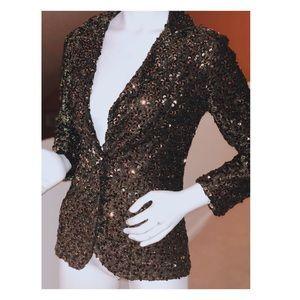 Jackets & Coats - Lee Jordan NY Gold Sequin Blazer